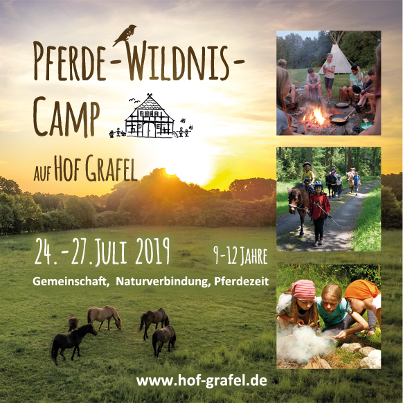 Pferde Camp Wildnis Kinder